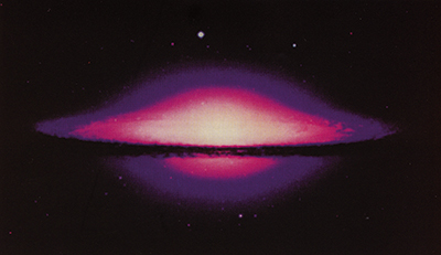 Sombrero galaxy in the constellation Virgo