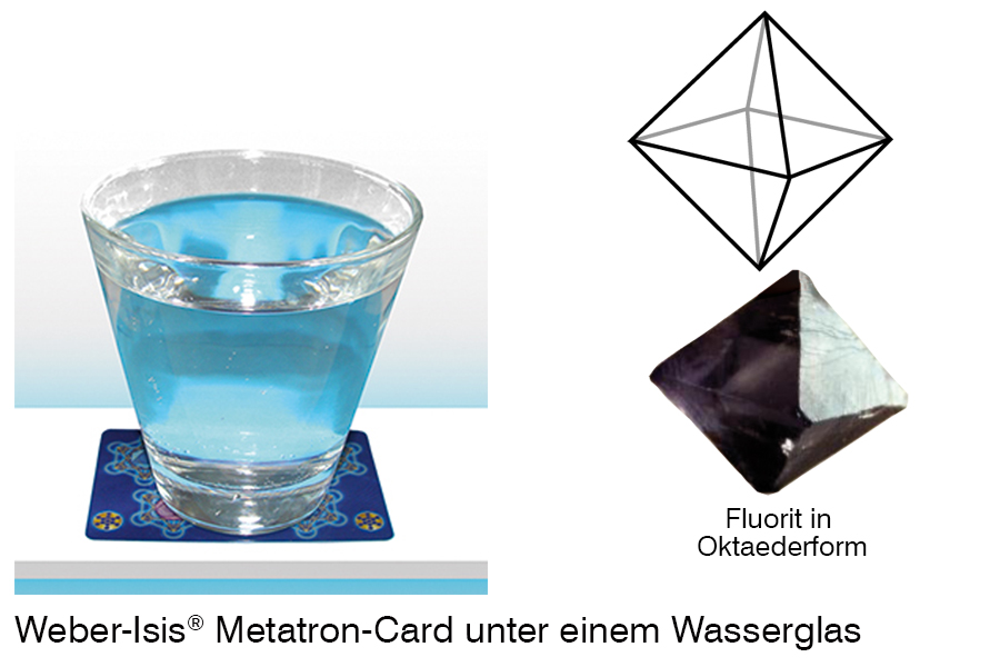 The Weber-Isis® Metatron-Card under the water glass