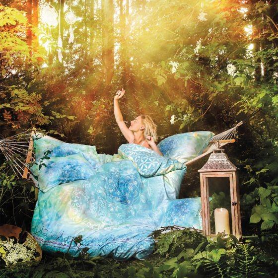 Bettwäsche Blume des Lebens BLUE DREAM