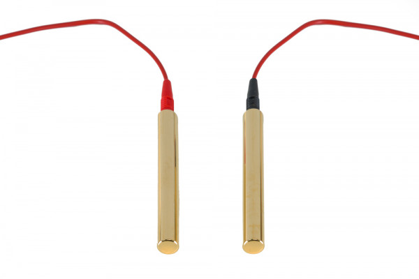Weber-Isis® hand probes (gold-plated) incl. 2 cables