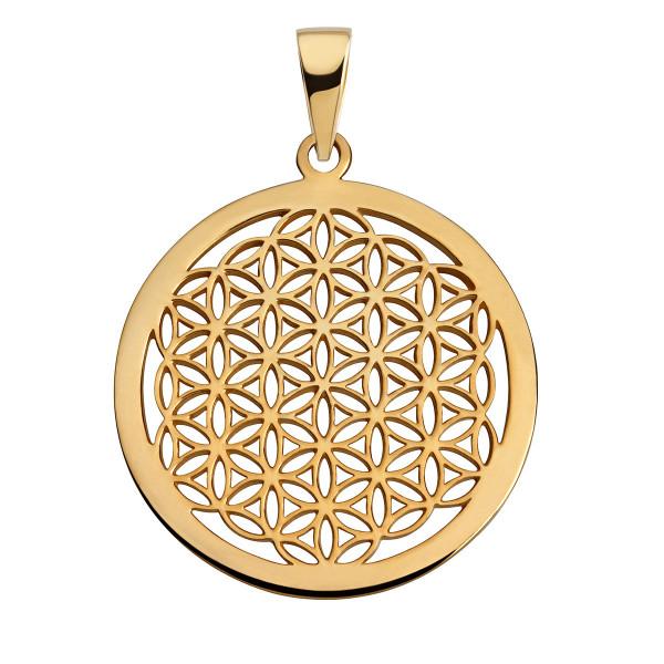 Anhänger Blume des Lebens Silber/vergoldet